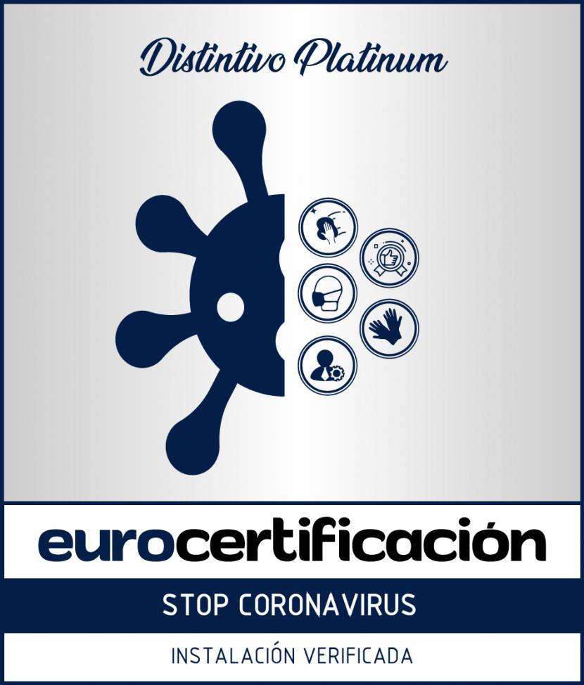 distintivo platiniu stop coronavirus